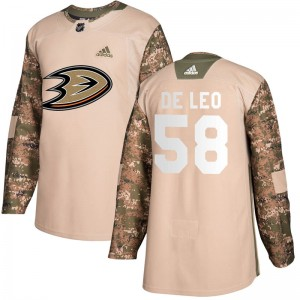 Chase De Leo Youth Adidas Anaheim Ducks Authentic Camo Veterans Day Practice Jersey