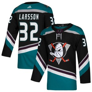 Jacob Larsson Youth Adidas Anaheim Ducks Authentic Black Teal Alternate Jersey
