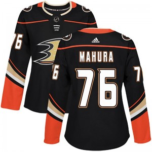Josh Mahura Women's Adidas Anaheim Ducks Authentic Black Home Jersey